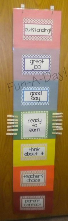 Preschool Behavior Plan
