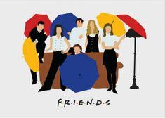 Friends tv shown minimalist poster