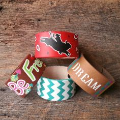 ♥ Loving our hand painted leather bracelets♥《 Be Free, Turquoise Chevron,  Dream, Bandana Print Buckin Bull》 Like Our Page On Facebook!! Follow Us On Twitter and Instagram!  www.danddwesternwear.com