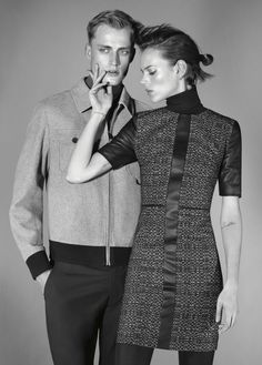 HUGO Fall 2012 Collection featuring Bastiaan van Gaalen and Danish supermodel Freja Beha Erichsen.