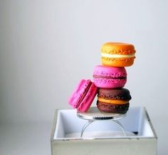 French Macaroon Overdose Ring in polymer clay food jewelry miniature