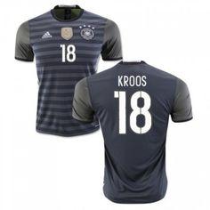 Tyskland 2016 Kroos 18 Borte Drakt Kortermet.  http://www.fotballteam.com/tyskland-2016-kroos-18-borte-drakt-kortermet.  #fotballdrakter