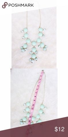 ✨ Mint Bauble Necklace✨ Mint bauble necklace!! Used. See 2nd photo for color details Jewelry Necklaces