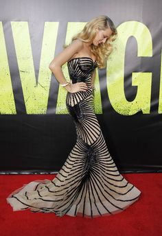 Blake Lively at the Los Angeles premiere of Savages, June 25th  She's wearing Zuhair Murad Couture Spring/Summer 2012.