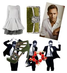 """""""Exotic date with Tom"""" by soundlessfob ❤ liked on Polyvore featuring Dries Van Noten, Monet and Natasha Zinko"""