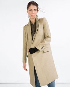 Image 4 of DOUBLE BREASTED COAT from Zara