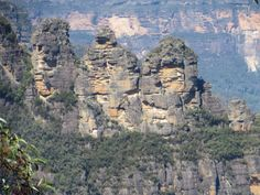 The Three Sisters in the Blue Mountains of Australia