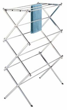 Polder Standing Accordion Drying Rack, Chrome by Polder,