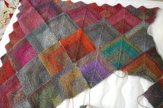 Ravelry: Mitered Squares Afghan #L10348 pattern by Lion Brand Yarn