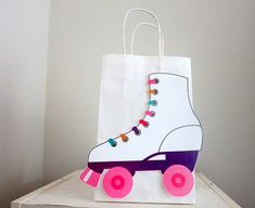 Roller Skate Party Favor Goody Gift Bags by CraftyCue on Etsy