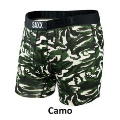 SAXX Vibe Boxer Modern Fit Camo Size XX-Large: Driven by fashion, Vibe uses prints, patterns and stripes to keep up with the latest trends and season colours. The viscose material will keep you cool and comfortable everyday of the week. Boxers, Boxer Briefs, Modern Font, Athletic Events, Underwear Shop, Mens Fitness, Latest Fashion Trends, Camo, Swimwear
