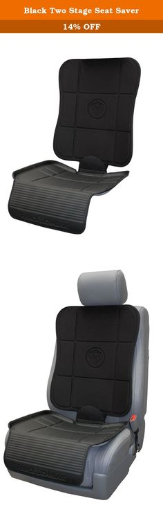 Black Two Stage Seat Saver. High density foam construction prevents depression damage caused by children's car seats, and protects upholstery from accidental spills and mess. The bottom tray keeps car seats in their proper position, and the kick plate protects the edge of the upholstery from shoe scuffs. Works with all ISOFIX compatible car seat systems and fits most cars. Prince Lionheart products - from our family to yours.