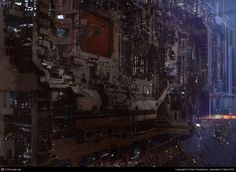 science fiction scene 3 by Paul Chadeisson | 2D | CGSociety