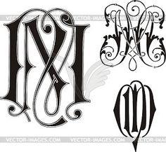 Monogram NM - vector clipart