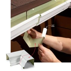 Make Repairs With a Slip Joint - Instandhaltung des Wohnraums Diy Gutters, Seamless Gutters, Home Maintenance Checklist, Drip Edge, Home Repairs, Home Projects, Gutter Installation, Don't Worry, Easy