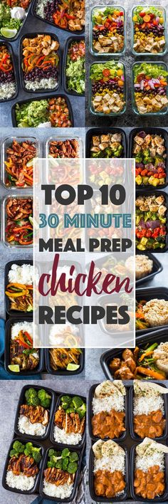 Top 10 (30 Minute) Meal-prep Chicken Recipes. IT HAS NAAN AND CURRY!