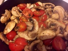 Cherry tomatoes garlic and onions