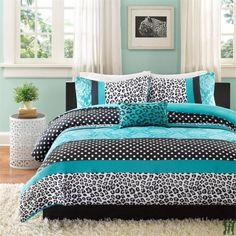 Mizone Chloe 3 Piece Comforter Set - Teal MZ10-225