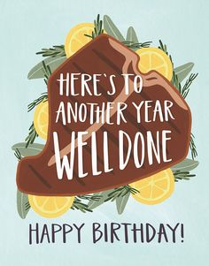Well Done Birthday card by One Canoe Two on Postable.com