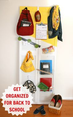 How to be organized {for back to school}