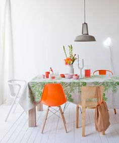 The happy dining area