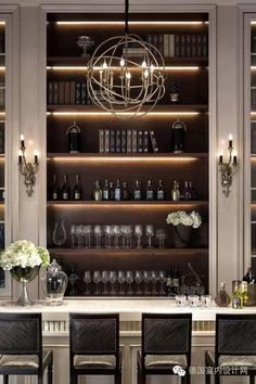 Built in and bar design