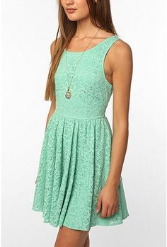 UrbanOutfitters.com > Pins & Needles Backless Lace Dress $70