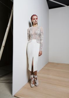 short dress ready to wear fashion white design embroidery RTW Spring/Summer 2015 Basil Soda