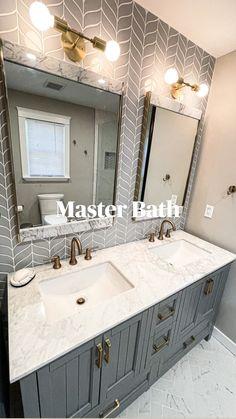 Bathroom Renos, Guest Bathrooms, Remodel Bathroom, Shower Ideas Bathroom, Grey Bathroom Cabinets, Small Shower Remodel, Small Bathroom Renovations, Master Bath Remodel, Washroom