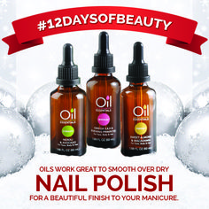 Put oils on your nails after a manicure for that added shine and moisture! #12DaysOfBeauty #nailtips