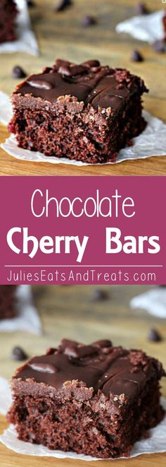 Chocolate Cherry Brownies ~ Fudgy Brownies with a surprise of Cherry!