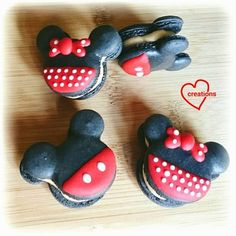 Loving Creations for You: Mickey and Minnie Mouse Macarons with Whipped Cara...