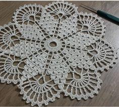 Crochet Round Cream White Doily Centerpiece Crochet Home Decor Crochet Table Decor made in Lithuania Free Crochet Doily Patterns, Crochet Squares, Crochet Motif, Hand Crochet, Crochet Baby, Free Pattern, Crochet Round, Crochet Home, Crochet Gifts