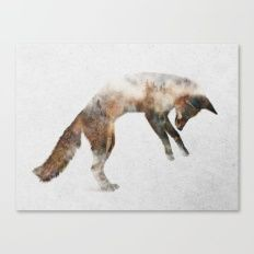 Canvas Print featuring Jumping Fox by Andreas Lie