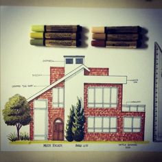 39 Ideas for drawing architecture elevation Interior Architecture Drawing, Drawing Interior, Interior Design Sketches, Interior Rendering, House Design Drawing, Elevation Drawing, Marker, Architect Drawing, Kunst Poster