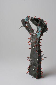 Fekete Reka   brooch, 2010 zinc, iron wire, shrinking plastic