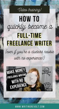 Quit your job and become a full-time freelance writer. This video teaches you the EXACT steps you need to take to market yourself and find clients! Check it out! :) | make money writing articles | make money writing online | side hustle | jobs for writers | freelancing tips | freelance writing tips |