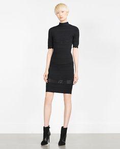ZARA - NEW IN - DETAILED KNIT DRESS