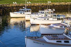 Title  Lobster Boats - Perkins Cove -maine   Artist  Steven Ralser   Medium  Photograph - Photography