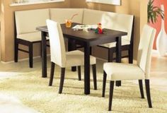 Booth Dinette Sets For Small Spaces | Dining Set Awesome Corner Bench Kitchen  Breakfast Nook Booth