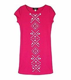AMY BYER® Girl's Fuchsia Pink Laser Cut Out Knit Dress, 7 *NWT $60 #AmyByer #DressyEveryday