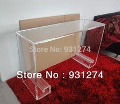 Acrylic lucite plexiglass console table