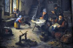 Interior of Dutch Kitchen Adriaen van Ostade, Dutch, 1610–1684. MFA Boston.