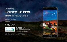 Samsung unveiled Galaxy On Max in India, features 4GB Ram and Samsung Pay mini.