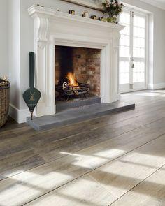 Dark Brown Reclaimed Engineered Oak Floor Rustic Modern