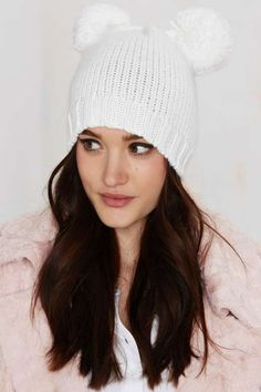 Prepare For Trouble Pom Beanie - White - What's New