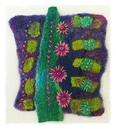 Linda Vincent.....handmade felt and stitching