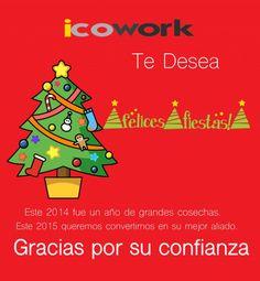 ¡Le deseamos unas muy Felices Fiestas!