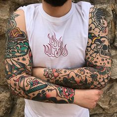 Good work by xkristiangonzalezx Artist america Traditional Tattoo Filler, Traditional Tattoo Man, Traditional Tattoo Old School, Traditional Tattoo Sleeve Filler, Tattoo Sleeve Designs, Tattoo Designs Men, Sleeve Tattoos, Leg Tattoos, Tattos