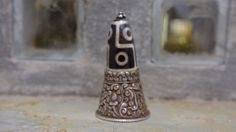 A+Dze+Agate+and+Silver+Wax+Letter+Seal+from+Tibet.+by+Lallibhai,+£195.00